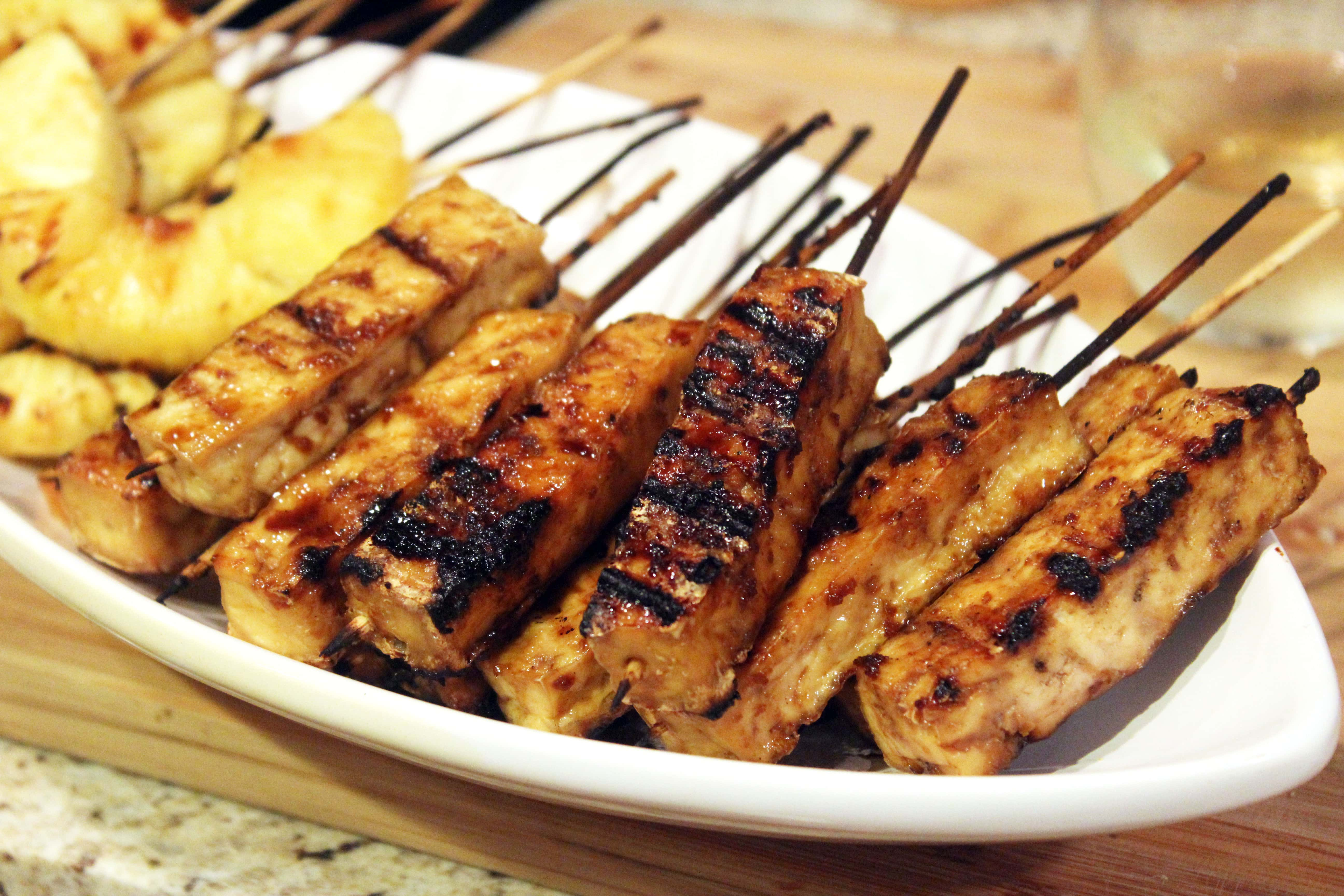 Ginger-Glazed Grilled Tofu