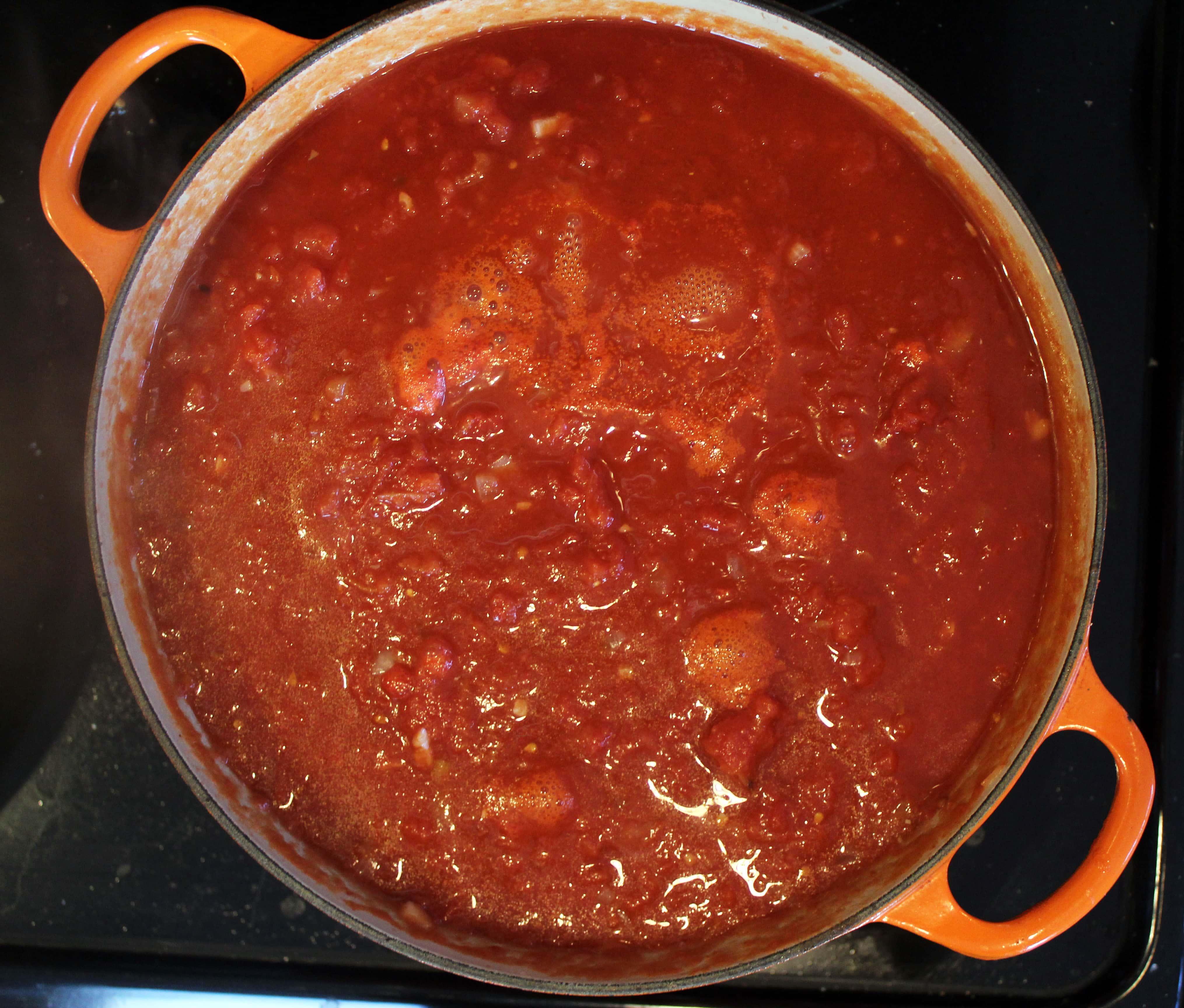 Let sauce simmer