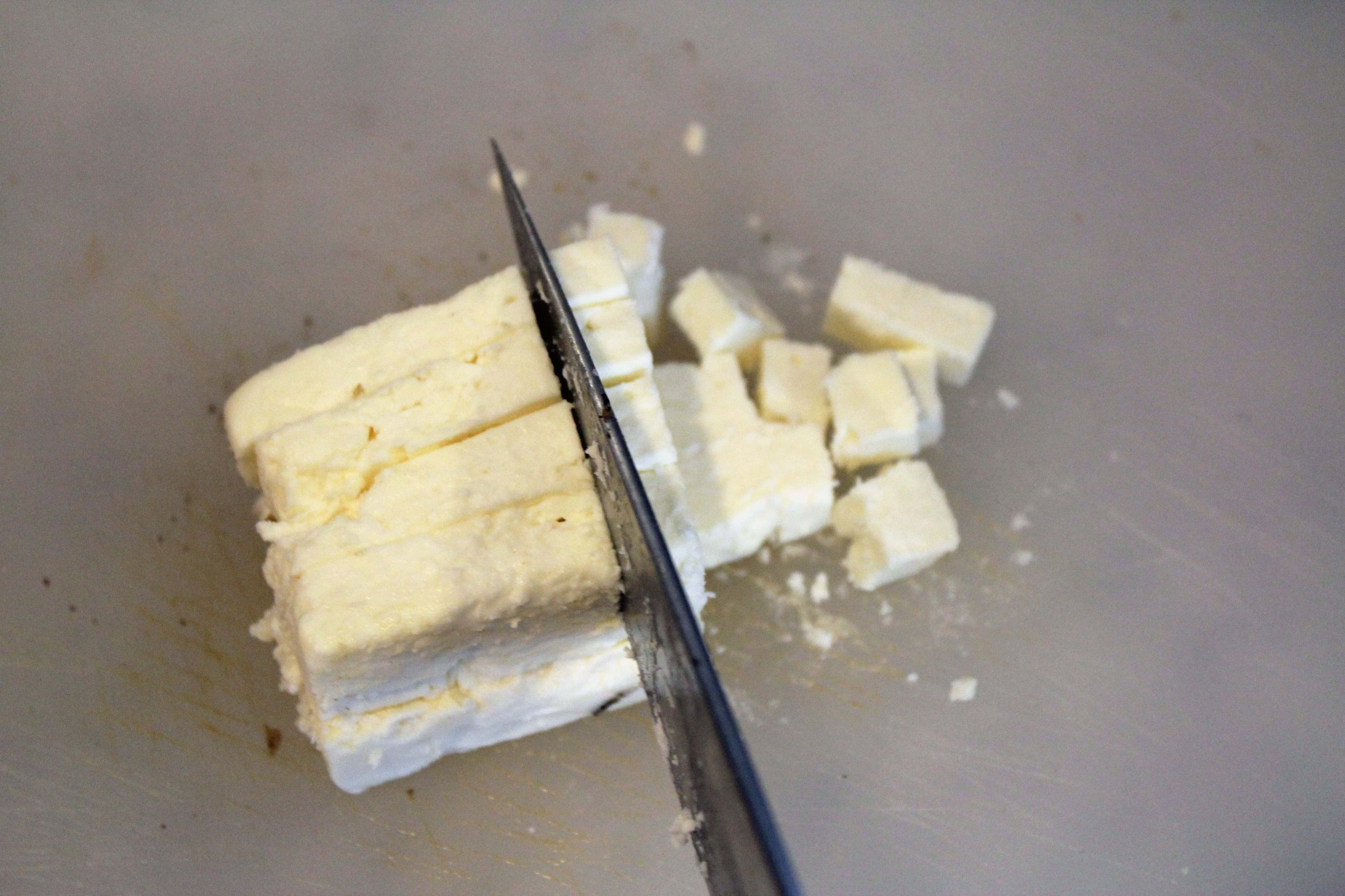 Cut feta into cubes
