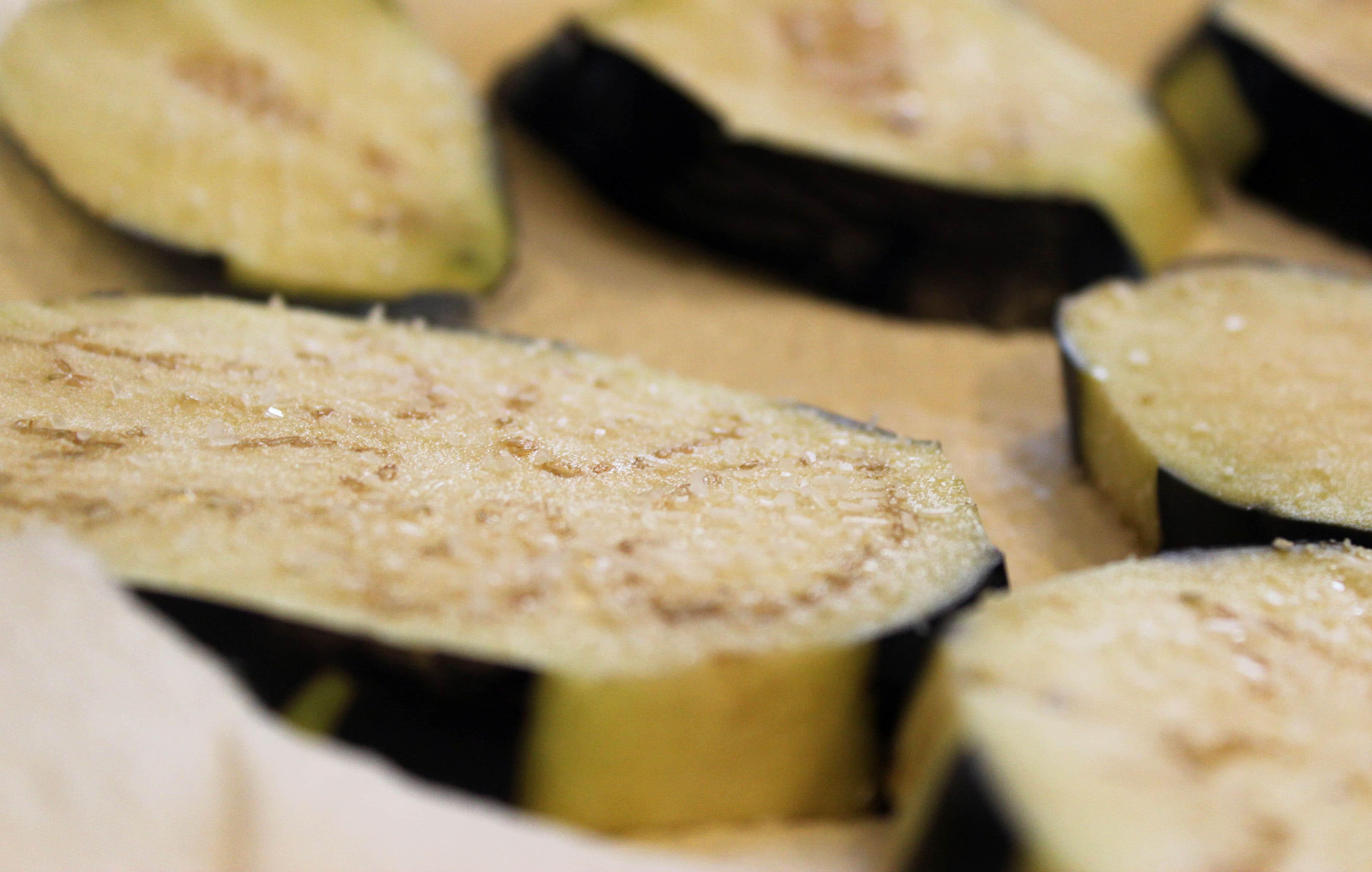 Let eggplant wilt
