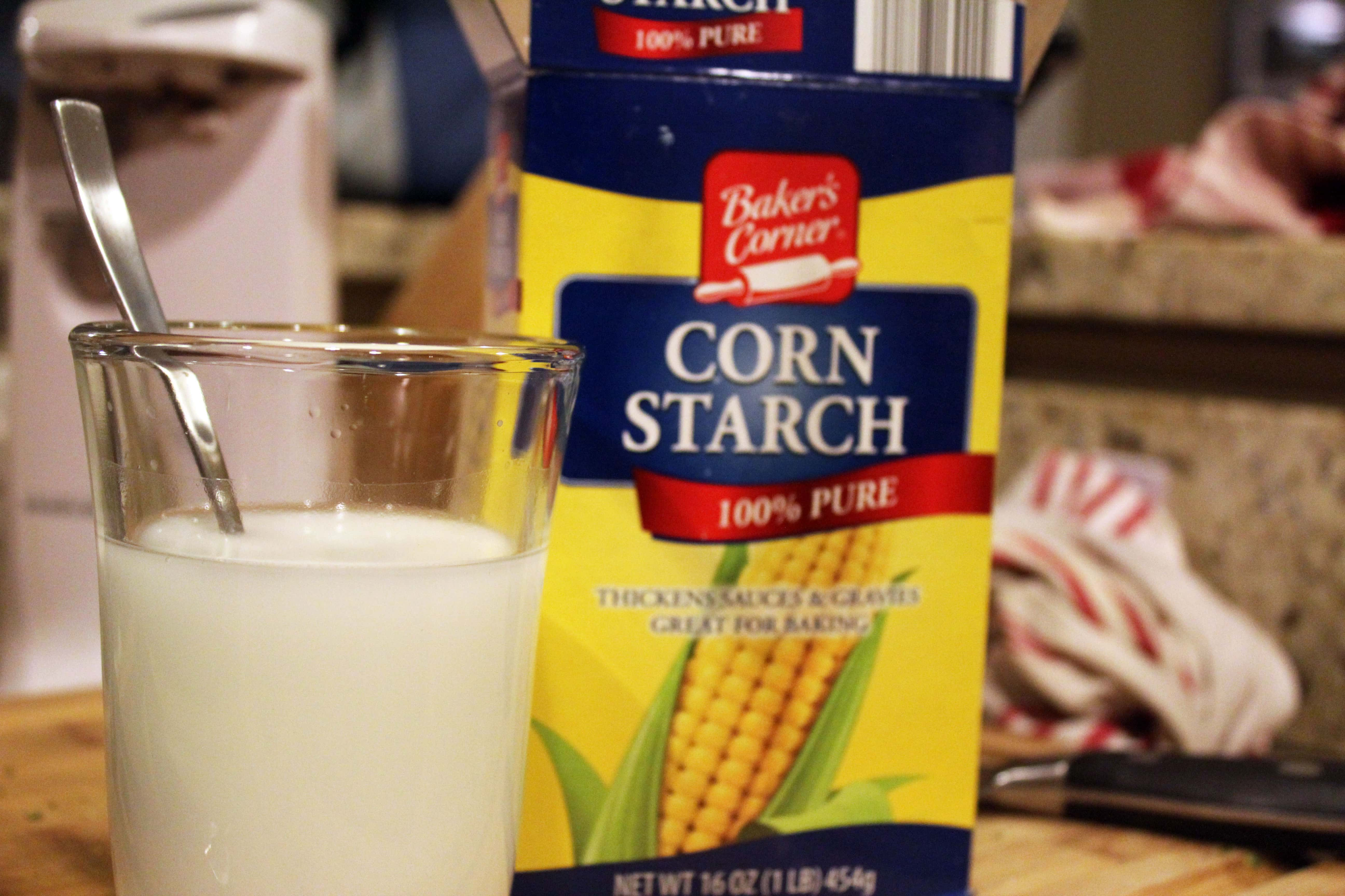 Mix cornstarch with water