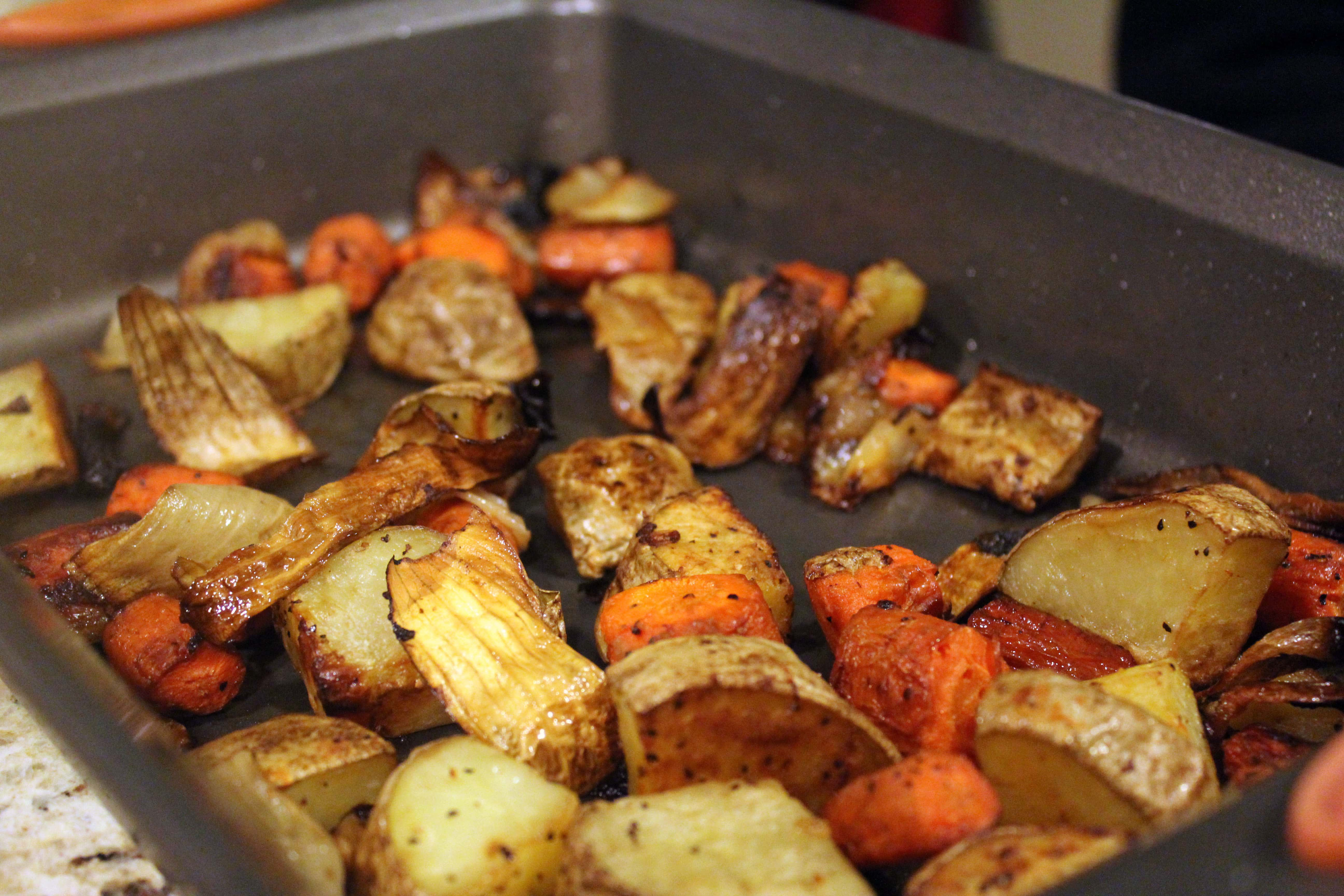 Roast veggies until tender
