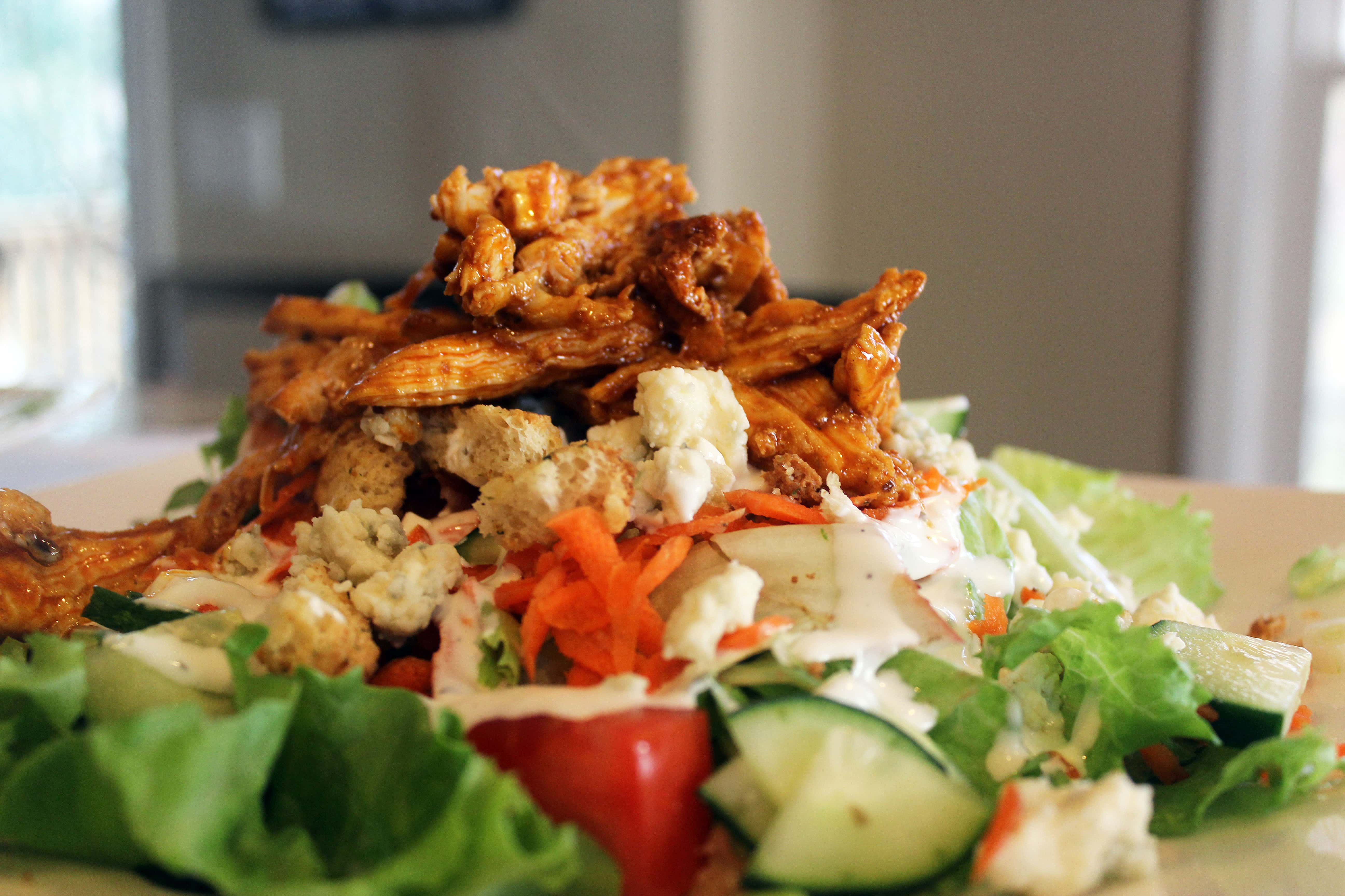 Salad with blue cheese crumbles