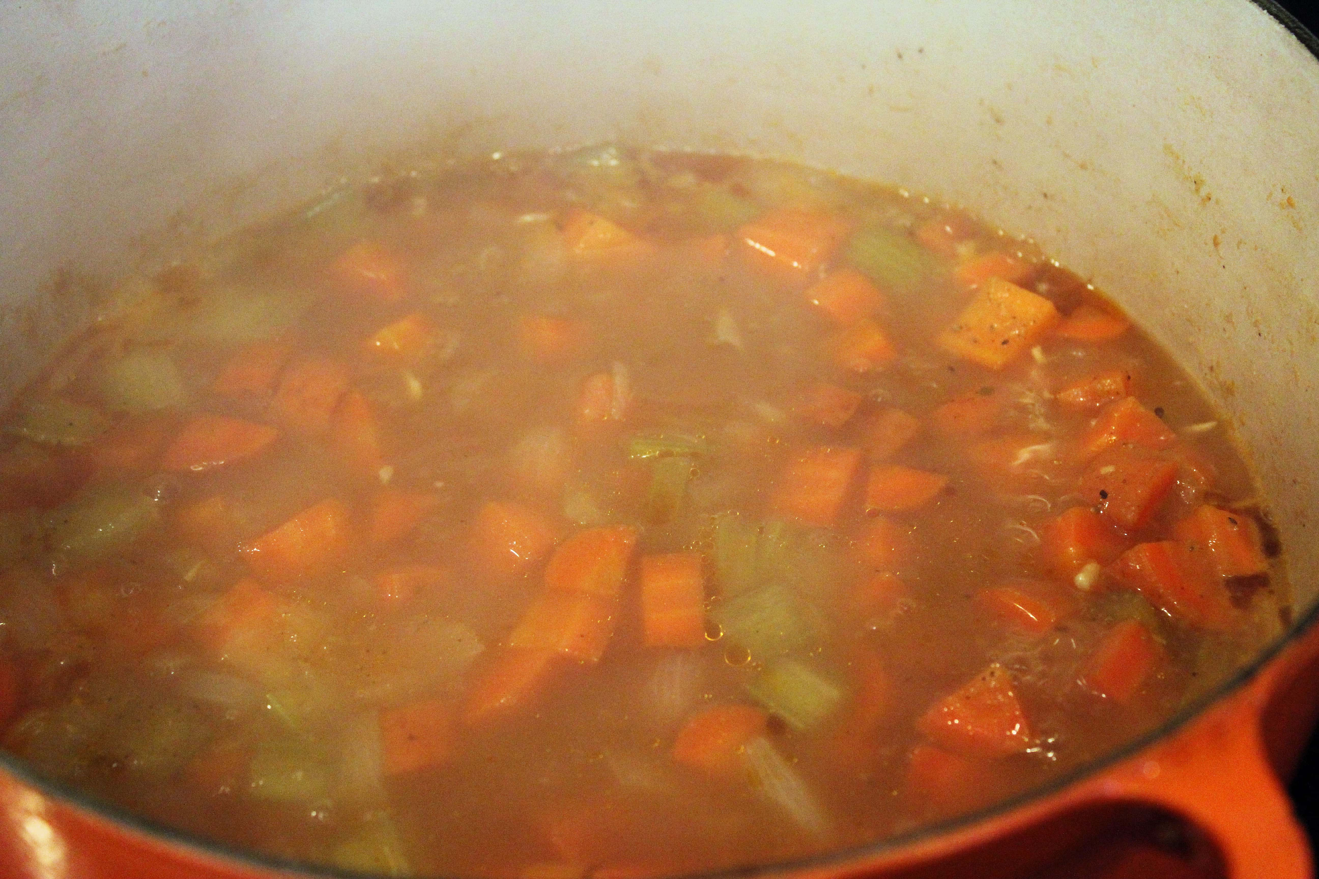 Let soup simmer until tender