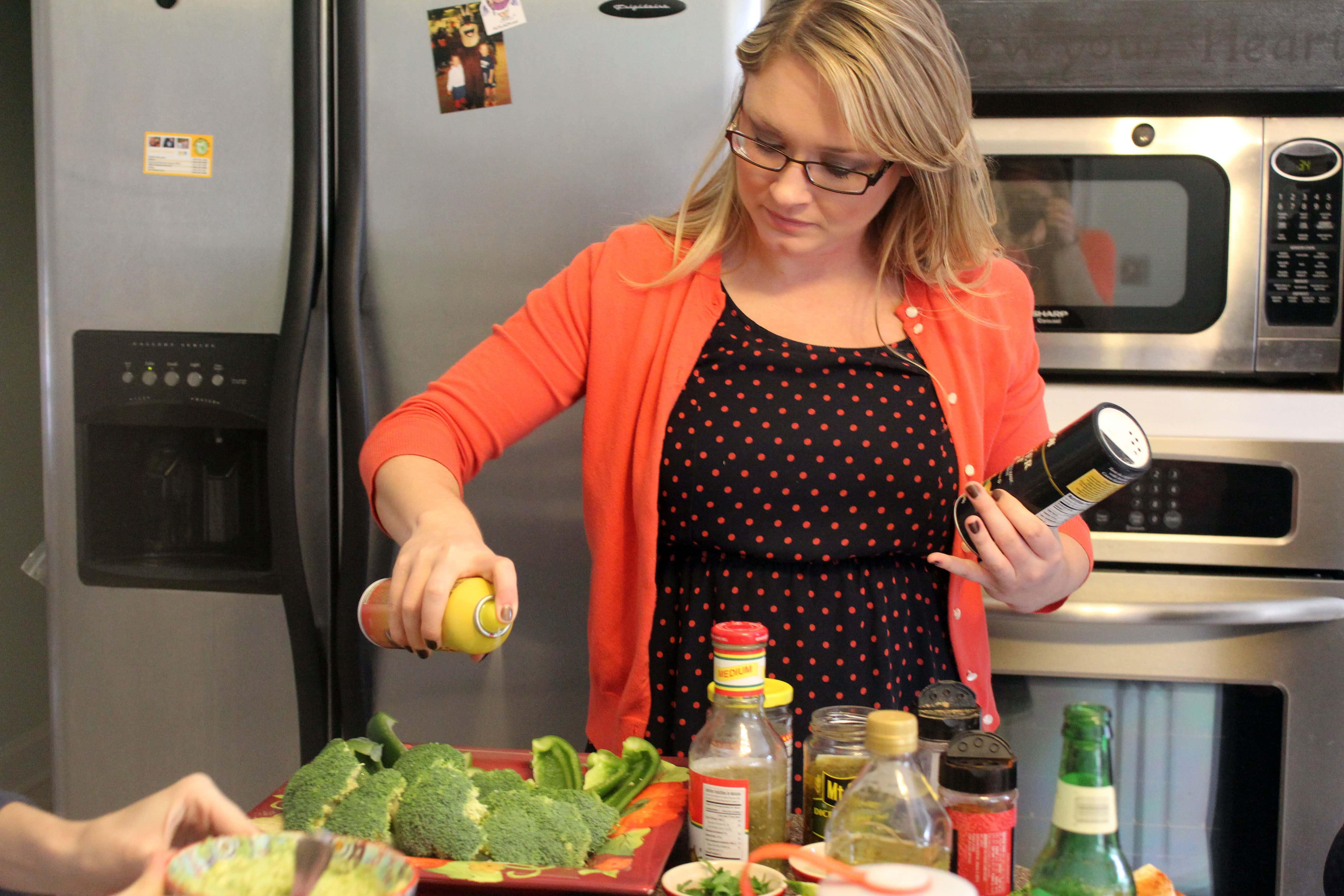 Lindsay cooking