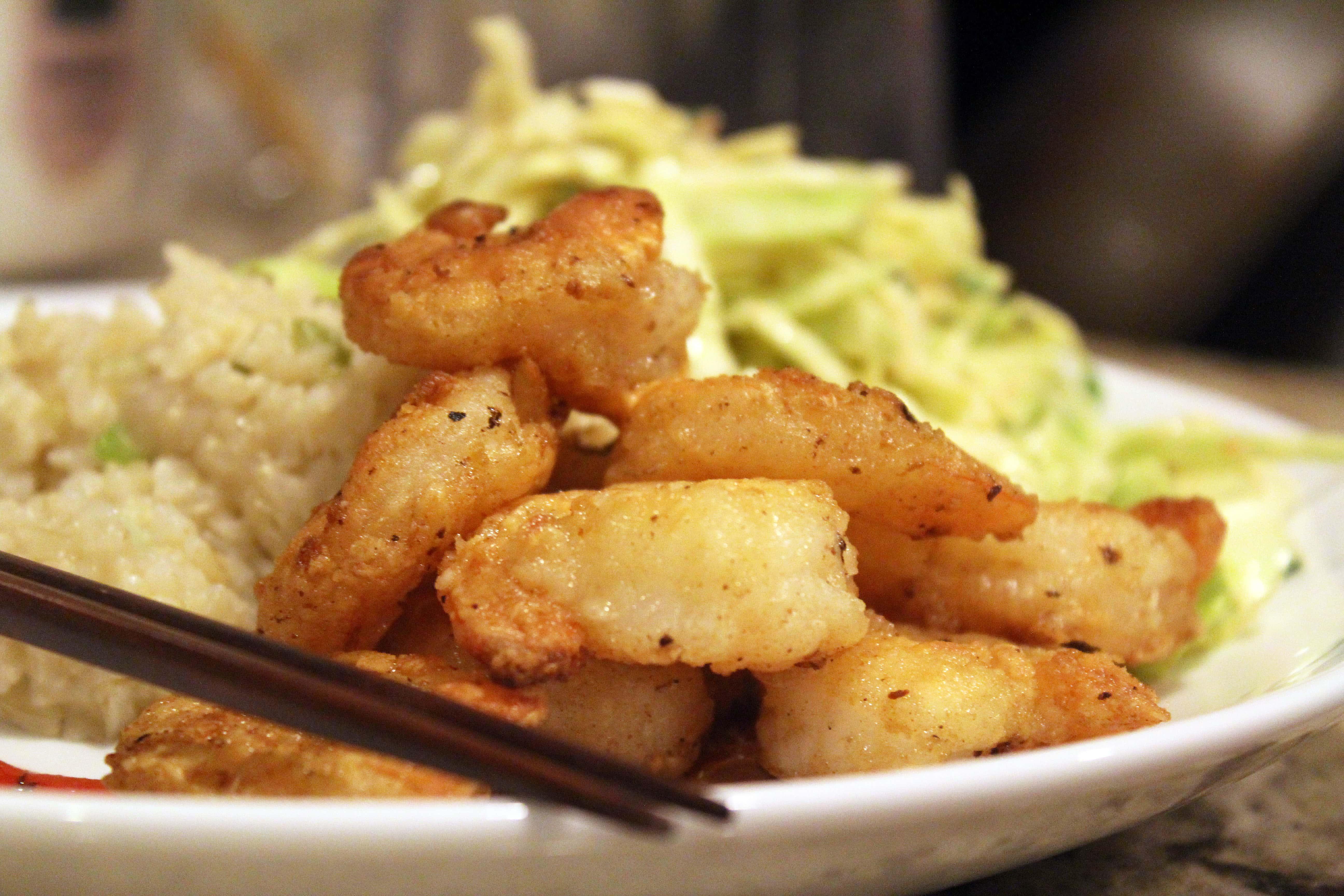 Pile of delicious shrimp