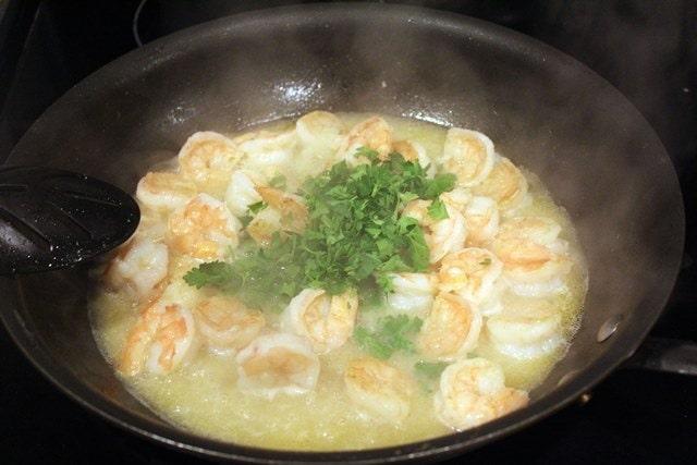 Add parsley before lemon juice