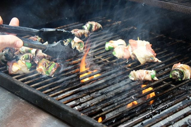 Flip while grilling