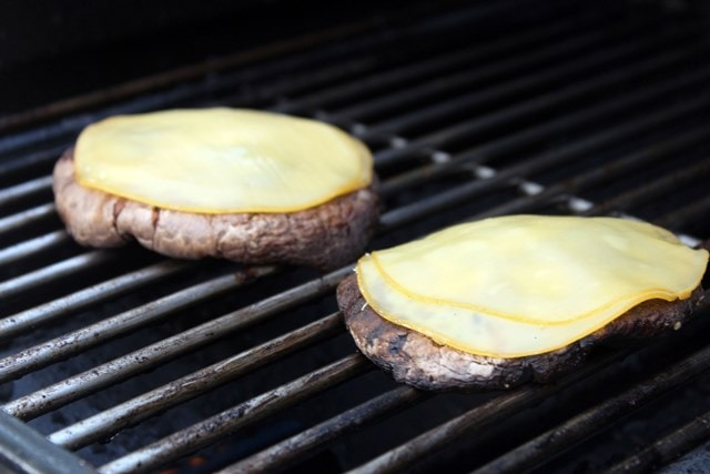 Let cheese melt once burgers are cooked
