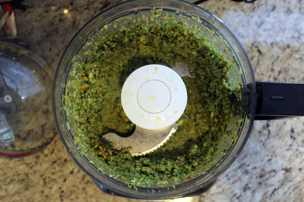 Pulse pesto until combined