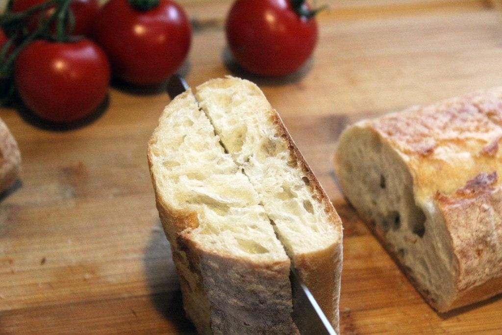 Slice bread horizontally