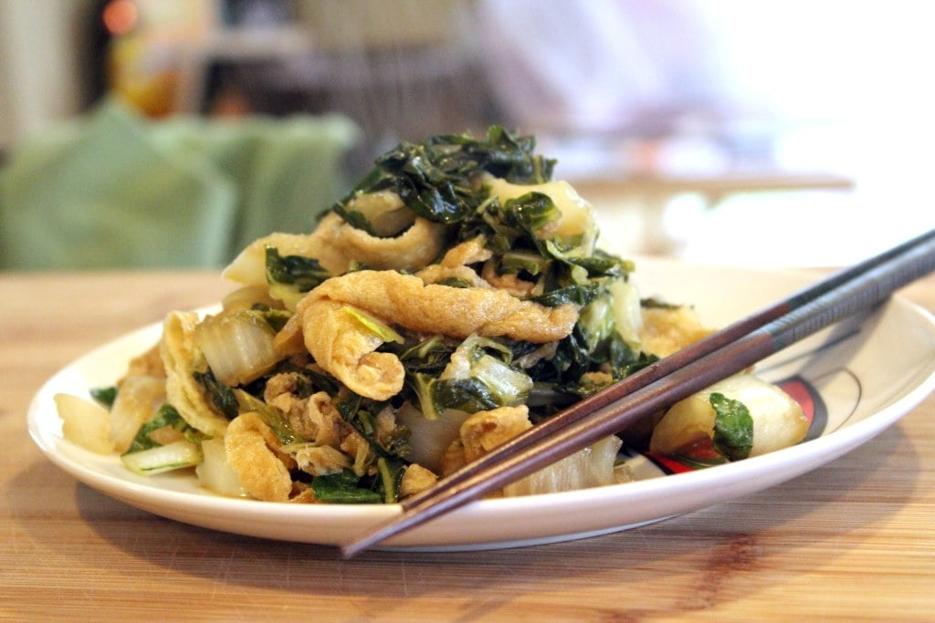 Tofu and greens