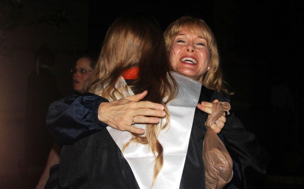 Mama hugging