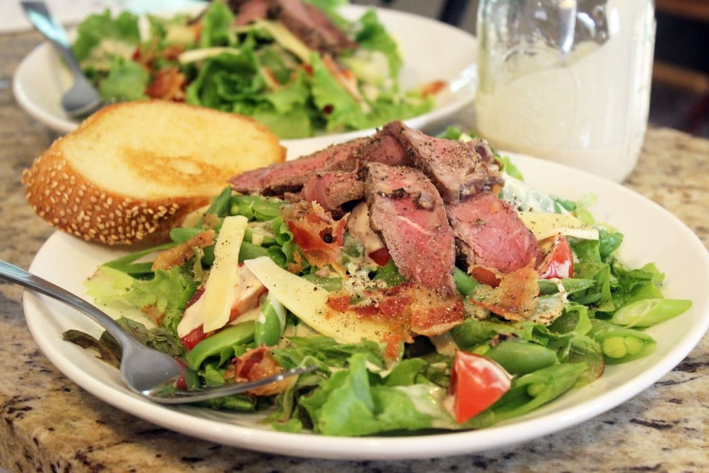 Steak variation of salad