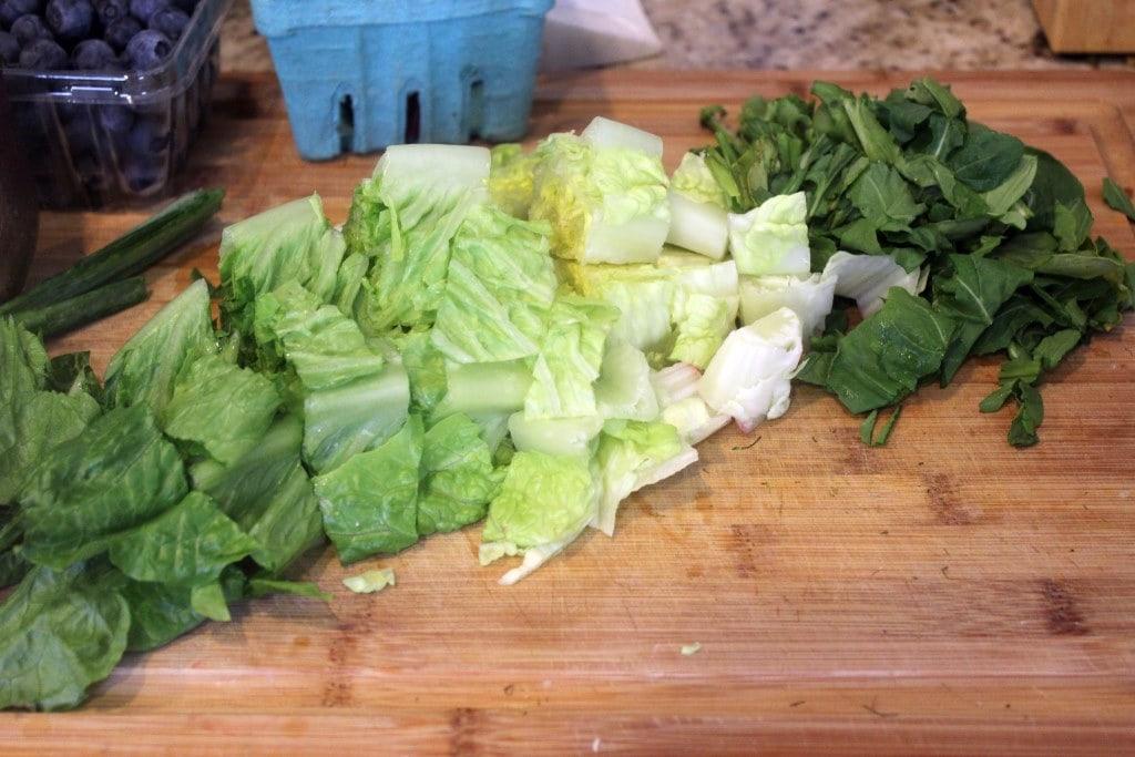 Chop greens