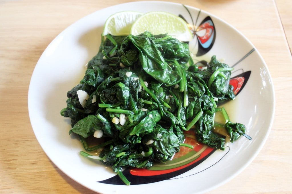 Spinach on its own