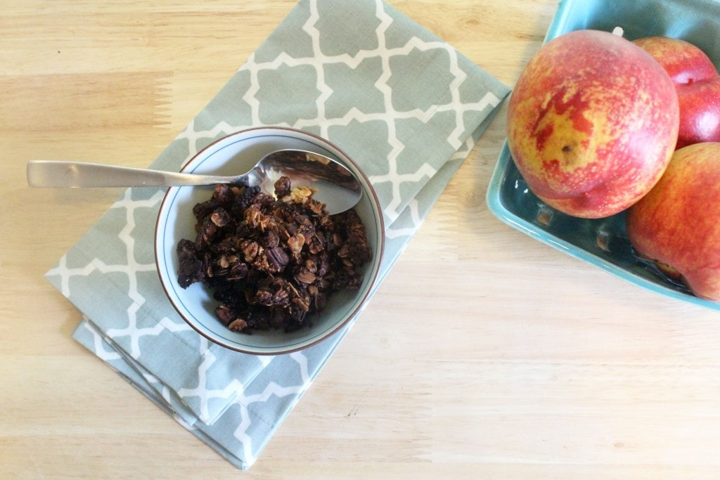 Granola and nectarines