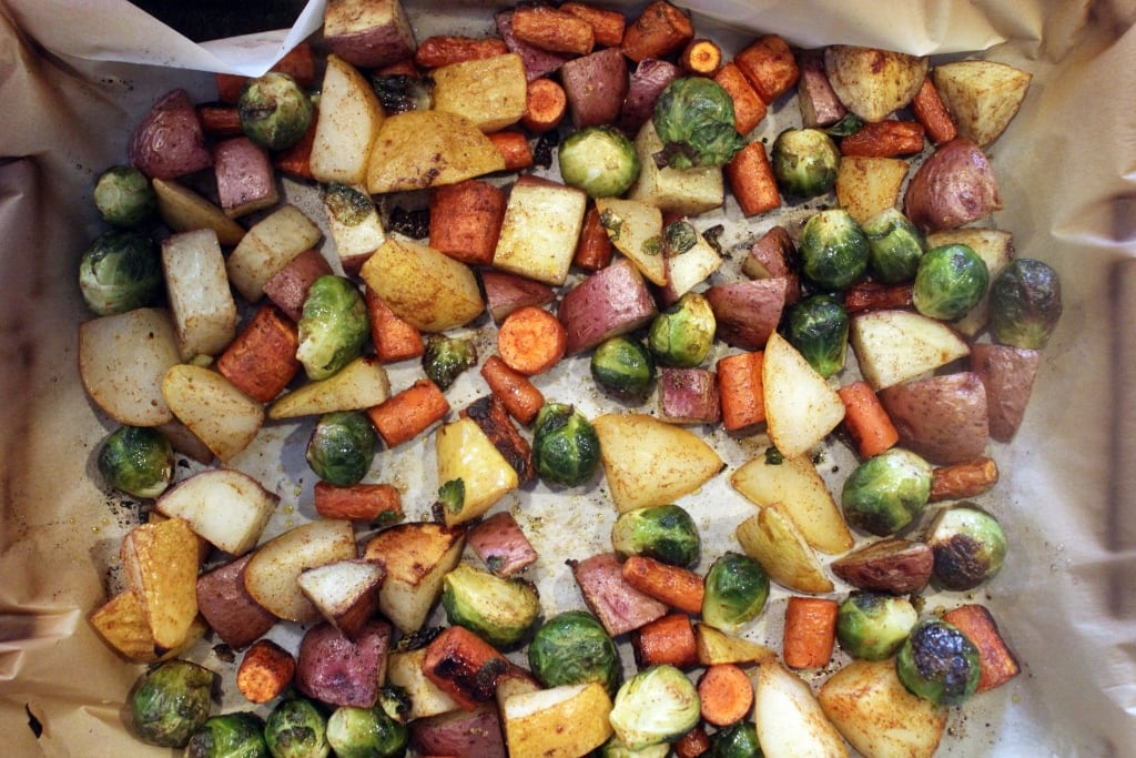 Roasted veggies done
