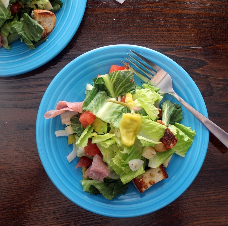 Small plate of salad SQUARE