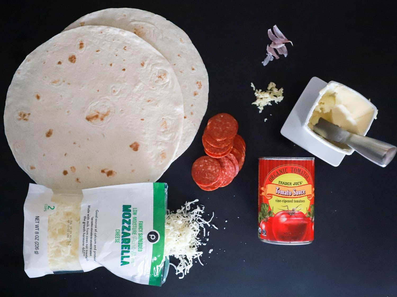Pizza Quesadilla from funnyloveblog.com