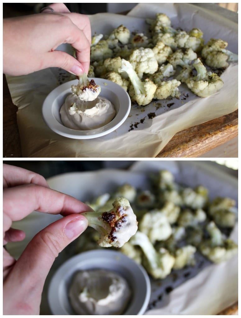Dipping Cauliflower
