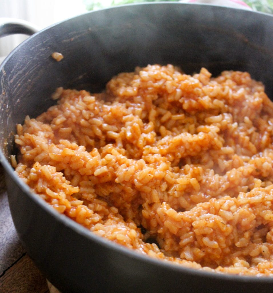 How to make Mexican red rice recipe. Funnyloveblog.com