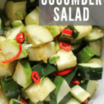 Ginger Lime Cucumber Salad recipe from funnyloveblog.com