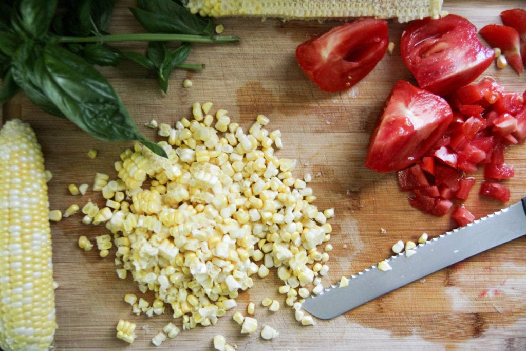 Raw Corn and Tomato Salad