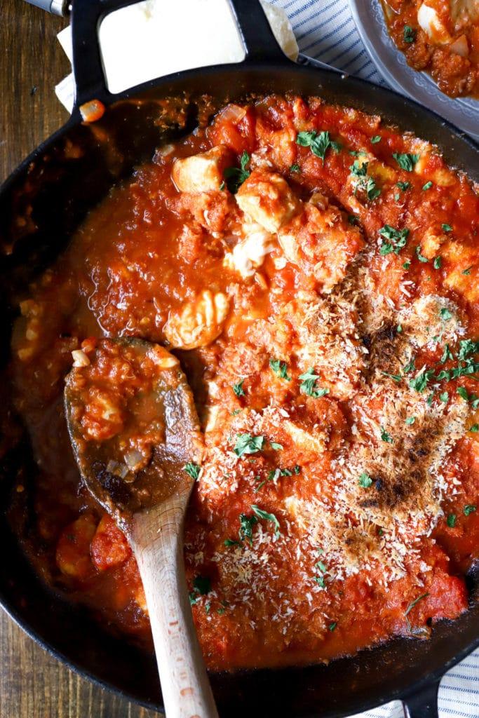 cast iron skillet chicken parmesan recipe
