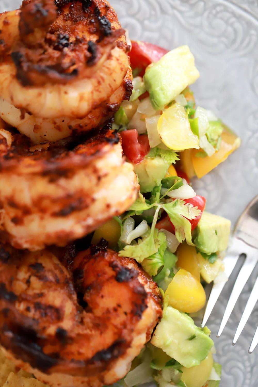 Grilled Shrimp with Avocado Pico De Gallo