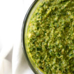 How to make the best walnut kale pesto recipe from funnyloveblog.com