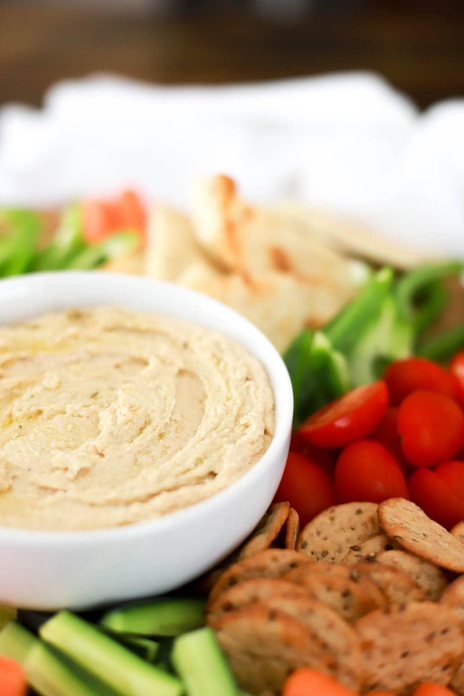 Easy 2-ingredient shortcut hummus