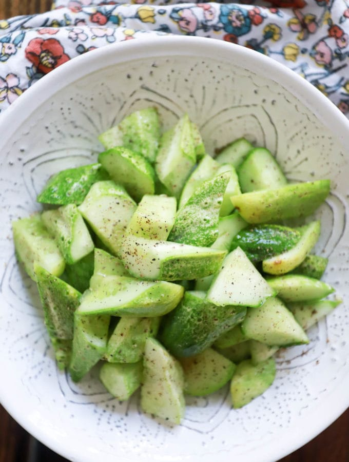 3-Ingredient Smashed Cucumbers